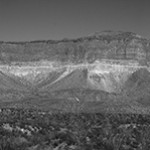 Photo by Bill Rau -Big Bend Mountains Panorama Black and White