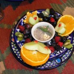 Fancy Fruit Plate with Poppy Seed Sauce