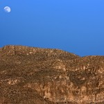 Photo by Bill Rau Moon over Boquillas Cliffs