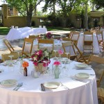Kate is the florist for your West Texas Wedding. She even provides antique vases for the buds and a variety of larger center piece vases!
