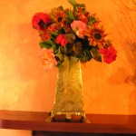 Kate was the florist for the Gage Hotel for four years. This was one of the arrangements made for their lobby.