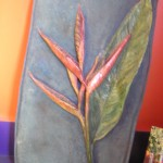 Heliconia in Ceramic. By Dawn Yates.