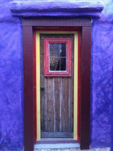 Exterior of the back door