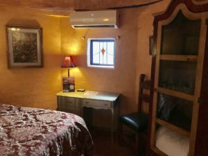 Antique stained glass window, cooled w highly efficient mini-split heating/cooling system, wardrobe built in Alpine