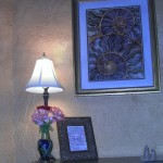 Fresh flowers and local art adorn each of our hand-built rooms.