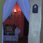 This is the doorway between the two bedrooms in the Lotus Suite.