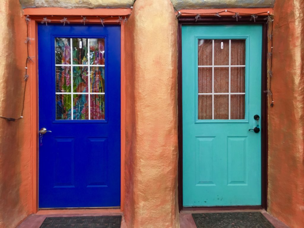 Sapphire and tourquiose room doors