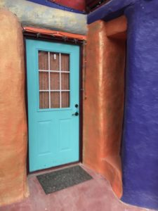 Here's the front door to the Turquoise Room