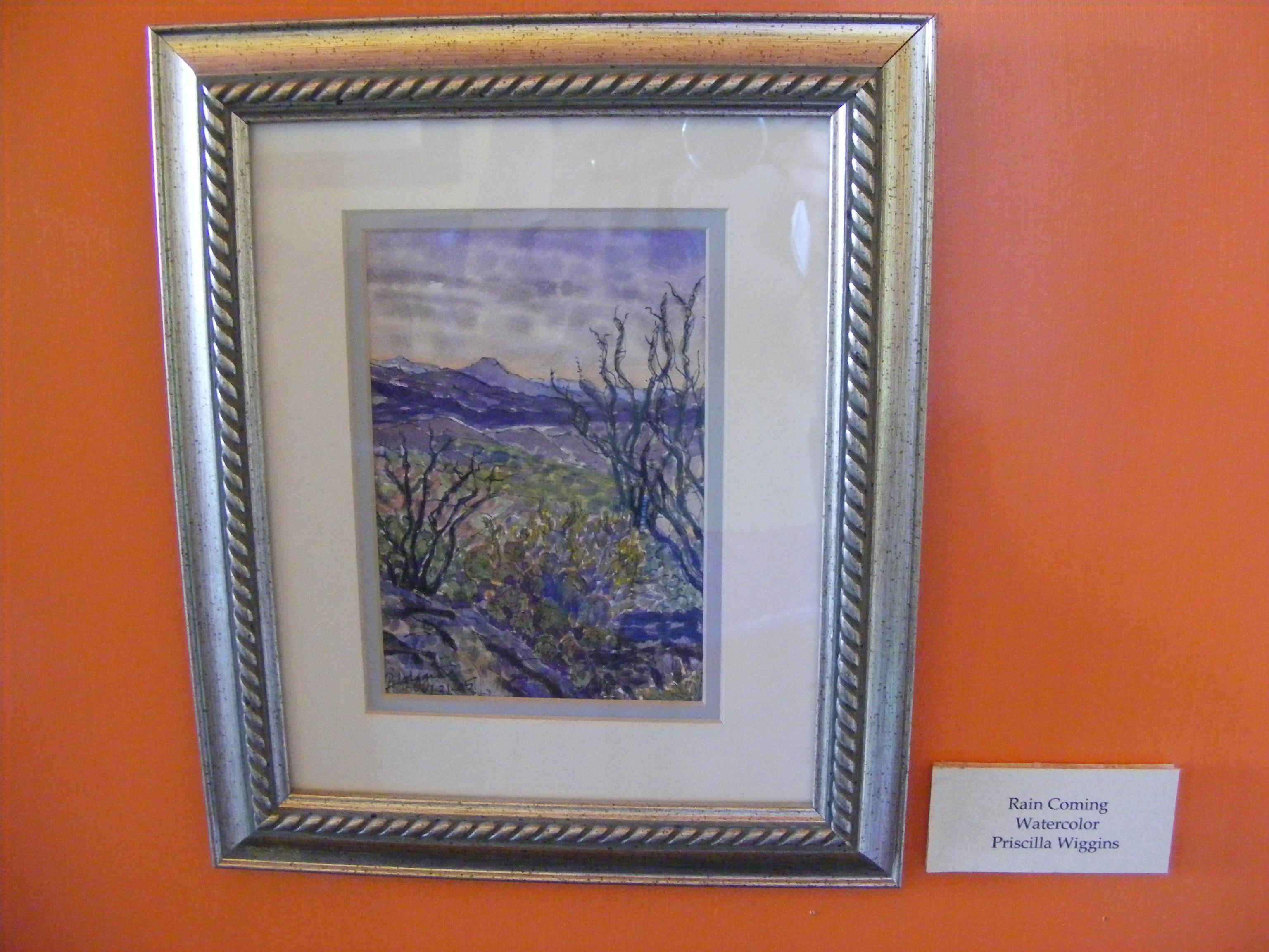 Watercolor art galleries in houston - Rain Coming Watercolor 7 By 10